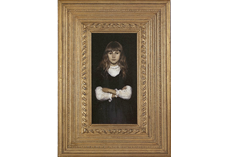 Bespoke period frame surrounding painting, 'Young Child'