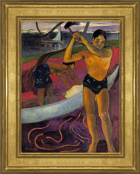 Paul Gaughin's The Man with the Ax with frame sold at Christie's