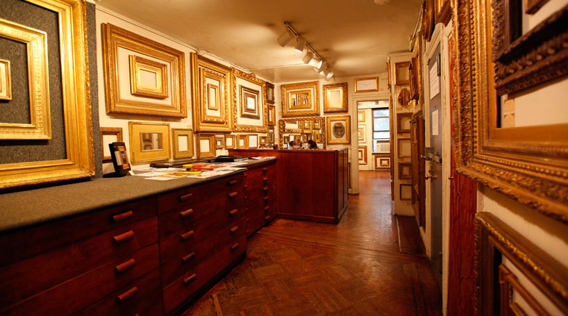 Showroom of antique period frames