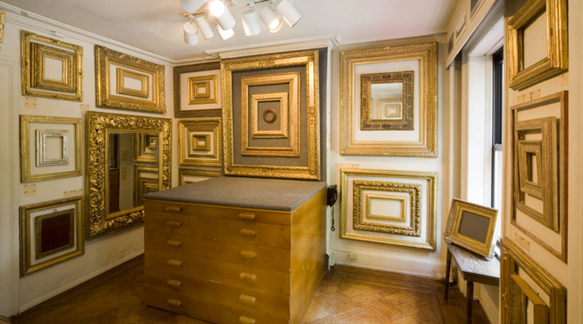Showroom of gilded period replica frames
