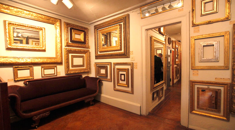 Gilded antique replica frames