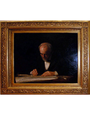 Frame at the Metropolitan Museum of Art containing Thomas Eakins - The Writing Master