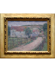 Frame at the Metropolitan Museum of Art containing Theodore Robinson - The Old Mill