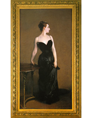 Frame at the Metropolitan Museum of Art containing John Singer Sargent - Madame X