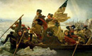 Washington Crossing the Delaware colour image in frame