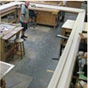 Construction of the replica frame showing the 12' x 21' frame in the restauration studio