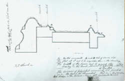 Sketch of a picture frame in profile