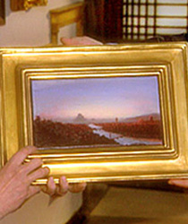 Close-up of gilded frame