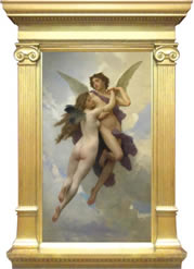 William Bouguereau - L'amour et psyche, painting with frame