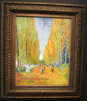 Van Gogh - L'allée Des Alyscamps, painting with frame