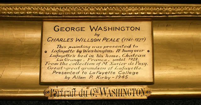 Portrait of George Washington Nameplate