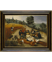 Pieter Bruegel the Younger painting and frame