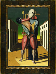 Giorgio De Chirico's Trovatore with frame, as sold by Sotheby's