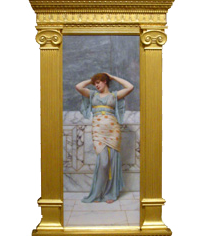 John William Godward's Beauty in a Marble Room painting and frame sold by Sotheby's