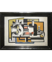 Fernand Leger painting and frame