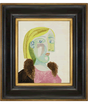 Picasso's Portrait de Femme painting and frame