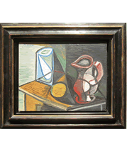 Picasso painting and frame