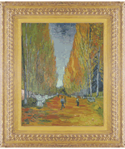 Van Gogh painting and frame