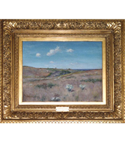 William Merritt Chase Shinnecock Hill, Long Island painting with French-style reproduction frame